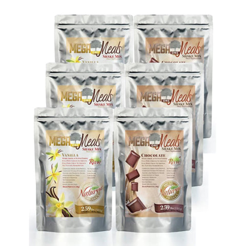 MegaOne Meals - 3 Chocolate, 3 Vanilla Pack