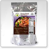 16 Servings - 1 lb Freeze-Dried Diced Beef - 6 pack
