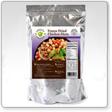 16 Servings - 1 lb Freeze-Dried Diced Chicken - 6 pack