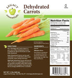 35 Servings Dehydrated Carrots