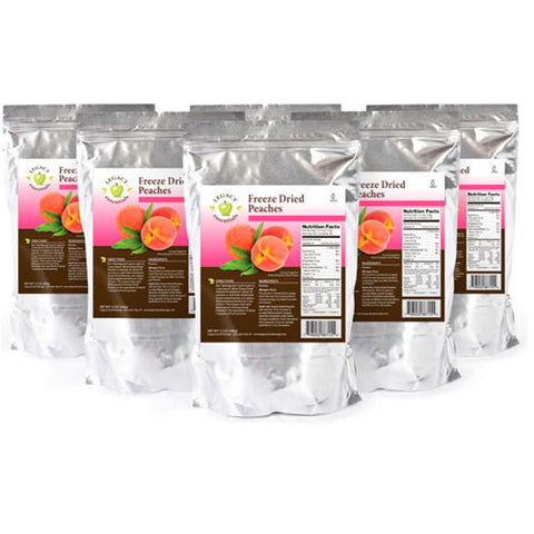 28 Servings Freeze Dried Peaches - 6 pack