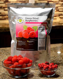 60 Servings Freeze-Dried Raspberries Pouch - 6 pack