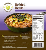 15 Servings Dehydrated Refried Beans - 6 pack