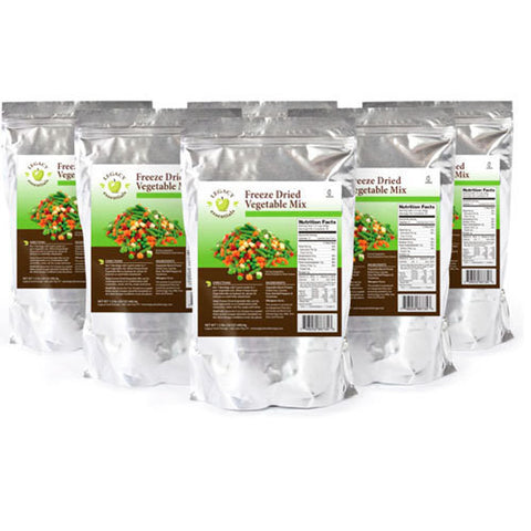 34 Servings Freeze Dried Vegetable Mix - 6 pack