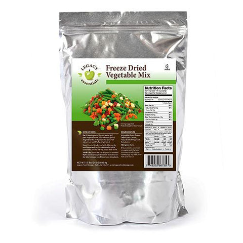 34 Servings Freeze Dried Vegetable Mix