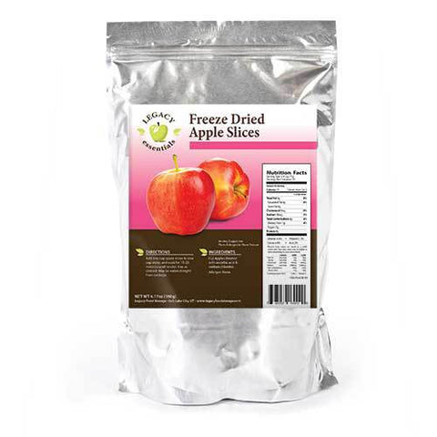 25 Servings Freeze-Dried Apple Slices Pouch