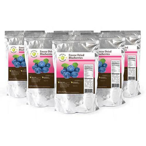 60 Servings Freeze-Dried Blueberries Pouch - 6 pack