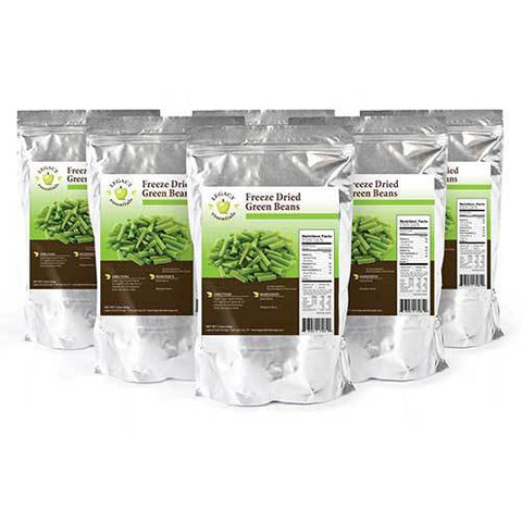 28 Servings Freeze-Dried Green Beans Pouch - 6 pack