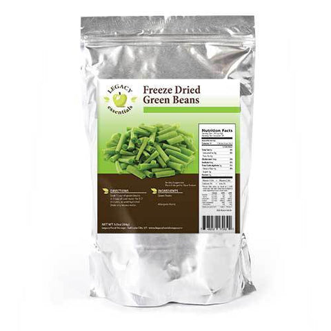 28 Servings Freeze-Dried Green Beans Pouch