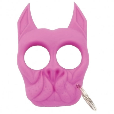 BRUTUS THE BULL DOG SURVIVAL KEYCHAIN-PINK