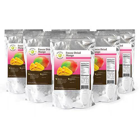 42 Servings Freeze-Dried Mango Pouch - 6 pack