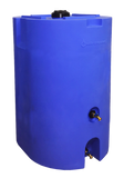 320 Gallon Stackable Long-Term Water Storage Tank Set (2x160) w/ Water Treatment