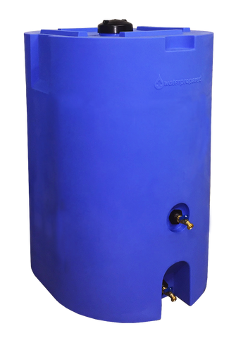 160 Gallon Stackable Long-Term Water Storage Tank w/ Water Treatment