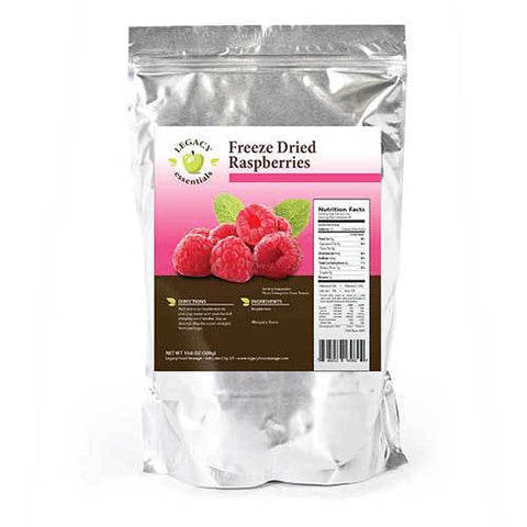 60 Servings Freeze-Dried Raspberries Pouch