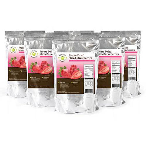 22 Servings Freeze-Dried Strawberries Pouch - 6 pack