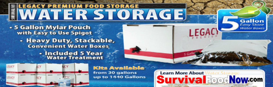 LONG TERM WATER STORAGE FILL & FILTRATION TREATMENT KITS