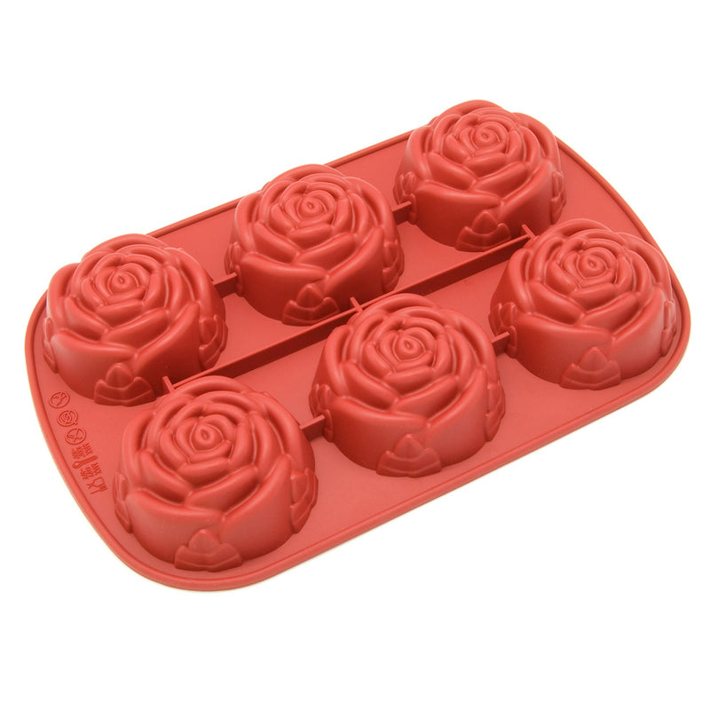 Freshware Silicone Molds, Reusable Cupcake Baking Pan, Non-Stick Muffin Cups Cake Molds, Silicone Bakeware and Soap Molds