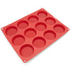 12-Cavity Silicone Mini Cookie, Pie, Quiche, Custard and Tart Mold