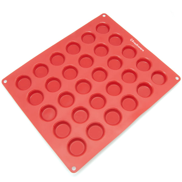 30-Cavity Silicone Mini Round Cookie, Chocolate, Candy and Gummy Mold