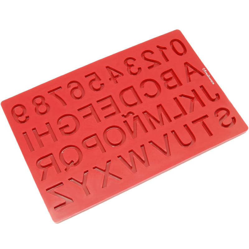 37-Cavity Silicone Mini Alphabet Letter and Number Candy and Crayon Mold