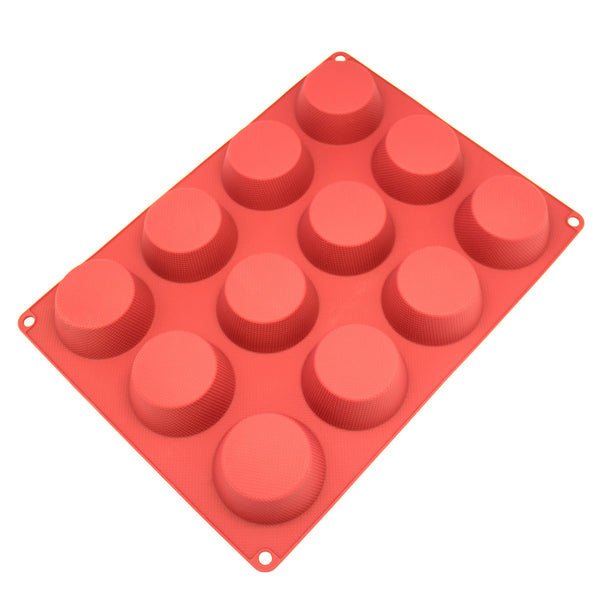 12-Cavity Silicone Mold for Cake, Bread, Cupcake, Cheesecake, Cornbread, Muffin, Brownie, and More