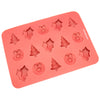 15-Cavity Christmas Silicone Mold for Making Homemade Chocolate, Candy, Gummy, Jelly, and More