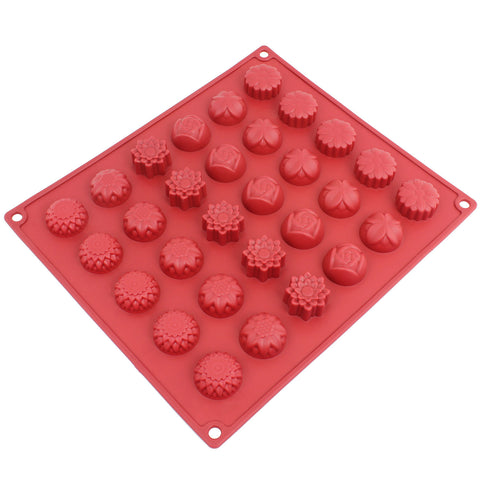 30-Cavity Silicone Flower Mold for Making Homemade Chocolate, Candy, Gummy, Jelly, and More