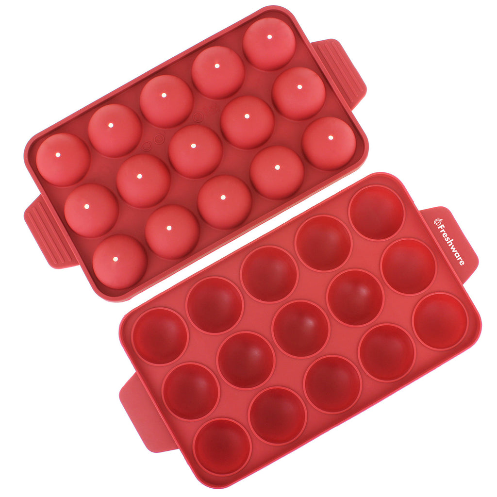 Freshware 15 Cavity Silicone Mold For Cake Pop Hard Candy Lollipop A