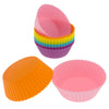 12-Pack Silicone Mini Round Reusable Baking Cup, Six Vibrant Colors