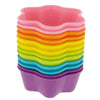 12-Pack Silicone 6-Star Reusable Baking Cup, Six Vibrant Colors