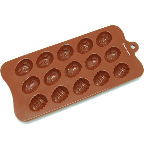 15-Cavity Silicone Easter Egg Chocolate, Candy and Gummy Mold