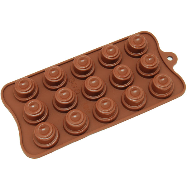 15-Cavity Silicone Spiral Cone Chocolate, Candy and Gummy Mold