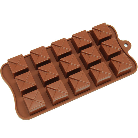 15-Cavity Silicone Tiered Square Chocolate, Candy and Gummy Mold