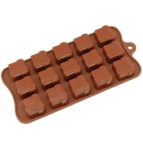 15-Cavity Silicone Gift Box Chocolate, Candy and Gummy Mold