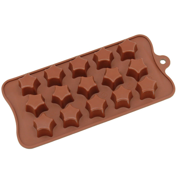 15-Cavity Silicone Super Star Chocolate, Candy and Gummy Mold
