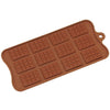 12-Cavity Silicone Mini Rectangle Waffle Chocolate, Candy and Gummy Mold