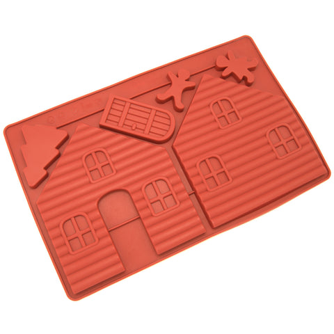 Silicone Gingerbread and Chocolate House Mold - 2 pcs