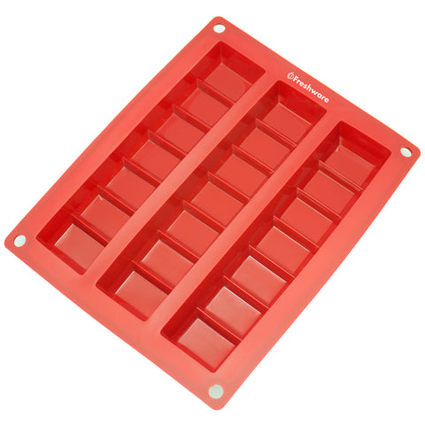 3-Cavity Silicone Mold for Making Break-Apart Chocolate Chunks, Protein and Energy Bites, and More