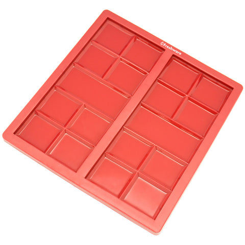 2-Cavity Silicone Mold for Making Break-Apart Chocolate Bars, Protein and Energy Bites, and More