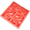 2-Cavity Diamond Silicone Mold for Making Homemade Chocolate, Candy Bars, and More