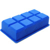 8-Cavity Jumbo 2-Inch Cube Silicone Ice Tray, Blue, Pack of 2