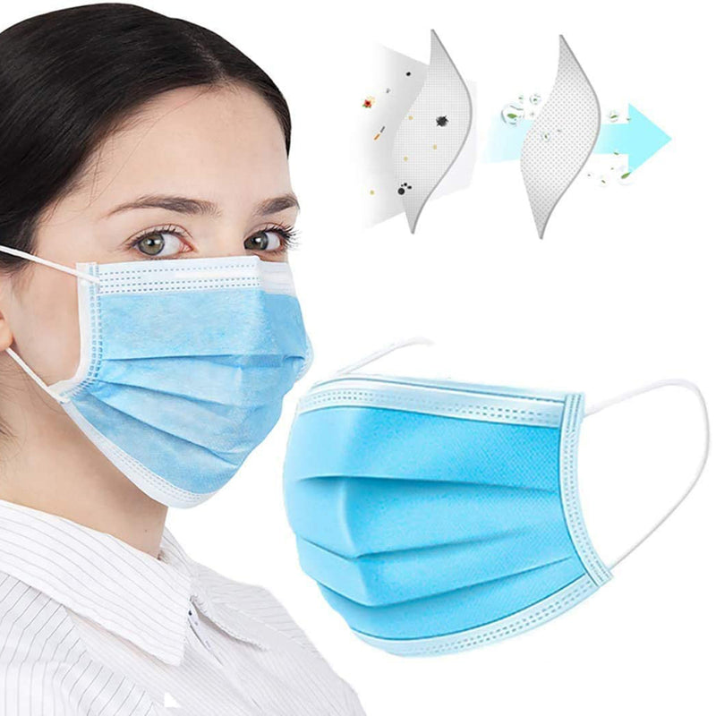Personal Protective Equipment FDA / CE Quality 3-Layer Non-Woven Non-Medical Masks (50 Masks / Box)