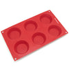 6-Cavity Silicone Cheesecake, Pudding, Pie, Custard and Tart Mold