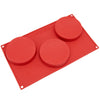 3-Cavity Silicone Disc Cake, Pie, Custard, Tart, Resin Coaster and Soap Mold