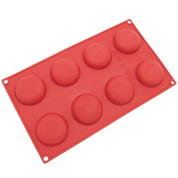 8-Cavity Silicone Round Cookie, Chocolate, Candy and Gummy Mold