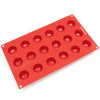 18-Cavity Silicone Mini Diamond Chocolate, Candy and Gummy Mold