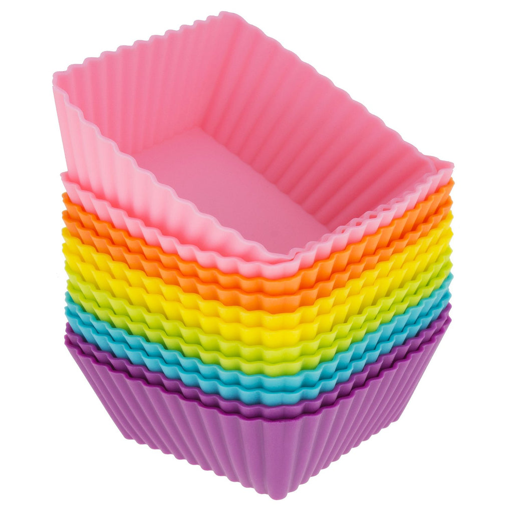 Freshware Silicone Baking Cups 12 Pack Reusable Cupcake Liners Non S