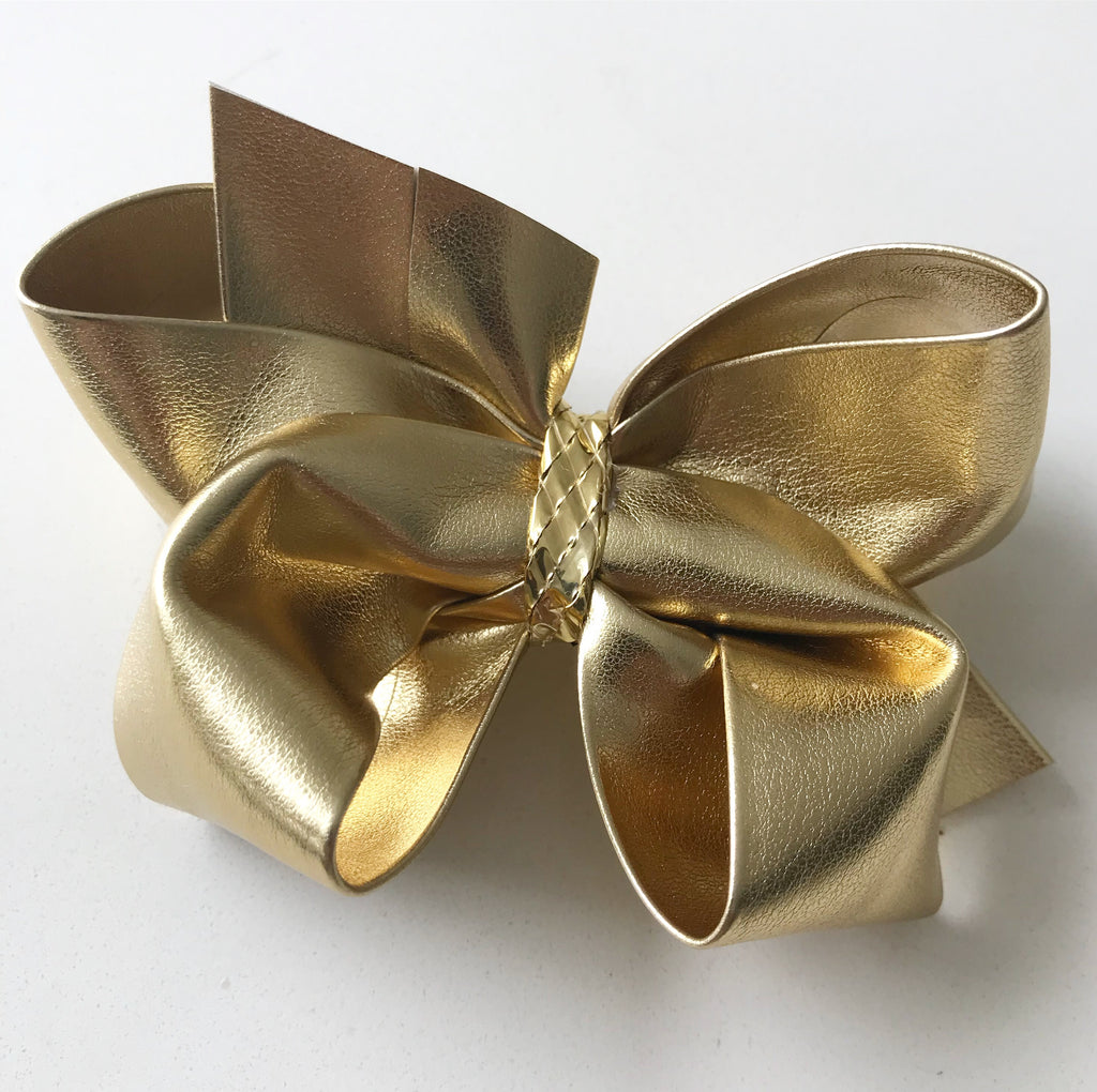 Faux Leather Large Bows