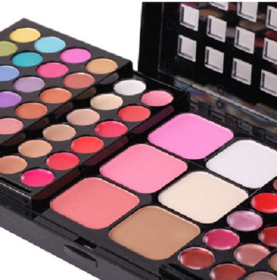 Brush Set - Triple Layer Set Eye Shadow Palette  - Lipstick Platte