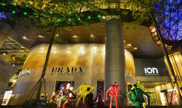 Prada's Asia-Pacific flagship store at ION Orchard, Singapore
